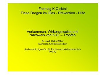 """Vortrag """"Vorkommen, Wirkungsweise und Nachweis von ... - Chemnitz"""