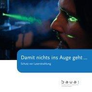 Damit nichts ins Auge geht... - Schutz vor Laserstrahlung - Chemie