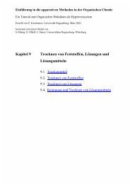 Trocknen von Feststoffen, Lösungen und Lösungsmitteln (Uni ...