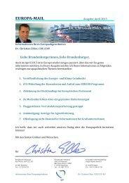 Europamail April - Dr. Christian Ehler MdEP