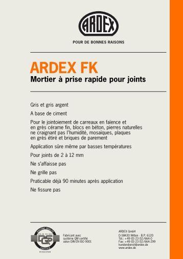 Ardex b12 enduit de ragr age du b ton - Mortier prise rapide ...