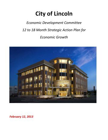 2013 Economic Development Strategic Action Plan - City of Lincoln