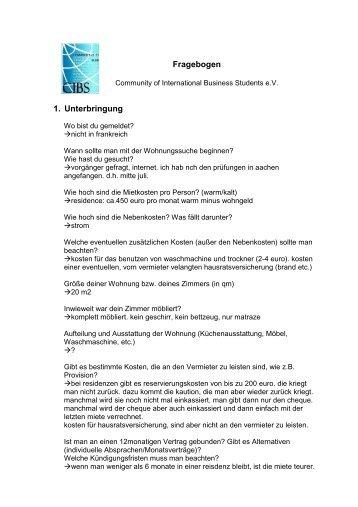 Wintersemester 2007/2008 - cibs-online.de