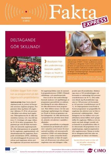 Deltagande gör skillnad! Fakta Express 3/2012 - Cimo