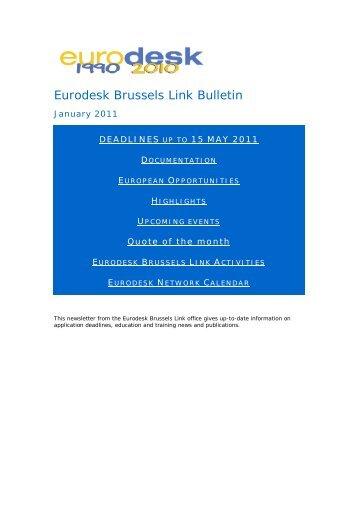 Eurodesk Brussels Link Bulletin - Cimo