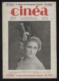 Cinéa n°19, 16/09/1921 - Ciné-ressources