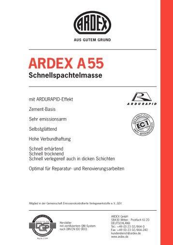 ARDEX A55 Schnellspachtelmasse
