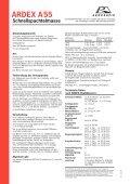 ARDEX A55 Schnellspachtelmasse - Seite 2