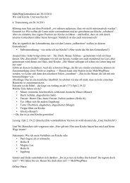 4. Teamsitzung am 20.10.2011 Klärung zum Satz aus dem Proto