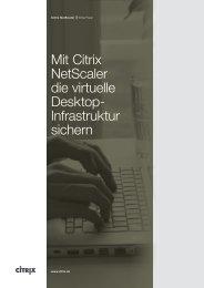Mit Citrix NetScaler die virtuelle Desktop- Infrastruktur sichern