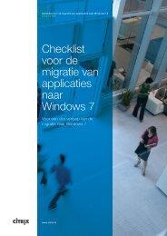 Checklist voor de migratie van applicaties naar Windows 7 - Citrix