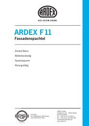 ARDEX F11 Fassadenspachtel