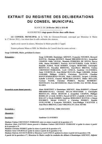 Dénomination de voies - Ville de Clermont-Ferrand