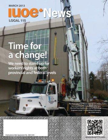 IUOE News - Spring 2013