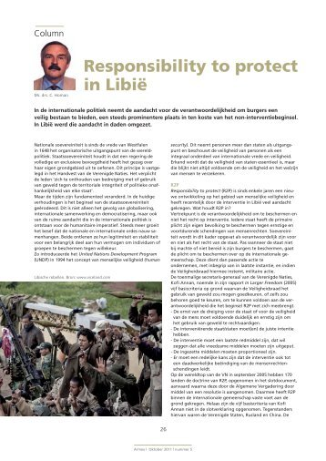 Responsibility to protect in Libië - Clingendael