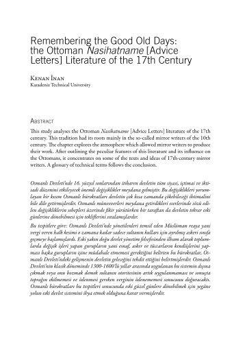 the Ottoman Nasihatname - clioh-world