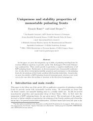 Uniqueness and stability properties of monostable pulsating fronts