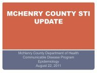 Board of Health STD August 2011 - McHenry County