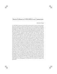Socio-Culture et VIH-SIDA au Cameroun - codesria