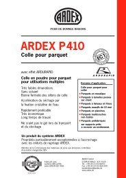 ARDEX P410 Colle pour parquet