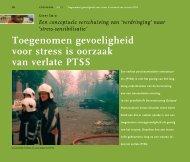 Toegenomen gevoeligheid voor stress is oorzaak van ... - Cogis