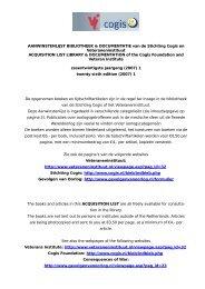 algemene informatie / general information - Cogis
