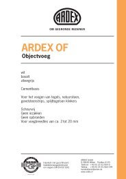 ARDEX OF Objectvoeg