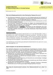 Landesweb Sachsen - Kurzinfo Sta - Freistaat Sachsen