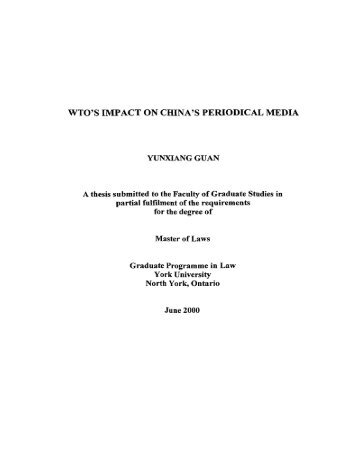 wto's impact on china's periodical media - Bibliothèque et Archives ...