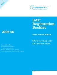 SAT® Registration Booklet - College Board