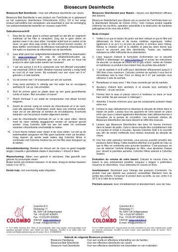 Biosecure Desinfectie - Colombo