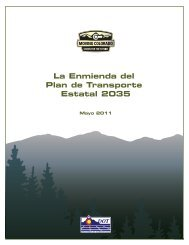 La Enmienda del Plan de Transporte Estatal 2035 - Colorado ...