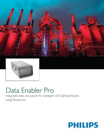 Data Enabler Pro Product Guide - Color Kinetics