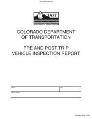 CDOT 0864 - Colorado Department of Transportation
