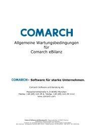 Allgemeine Wartungsbedingungen für Comarch eBilanz