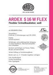 ARDEX S16 W FLEX Flexibler Schnellbaukleber, weiß