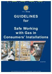 GUIDELINES for Safe Working with Gas in Consumers' Installations