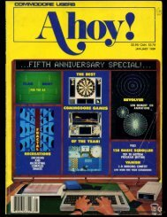 Ahoy! Issue 61 - January 1989 - Commodore Computers