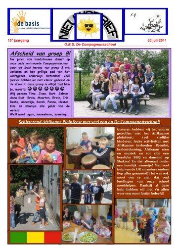 Nieuwsbrief 20 juli 2011 - De Compagnonsschool