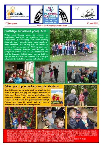 Nieuwsbrief 30 mei 2013 - De Compagnonsschool