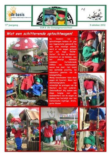 Nieuwsbrief 9 oktober 2012 - De Compagnonsschool