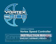 Team Orion Vortex Race ESC Manual - CompetitionX.com