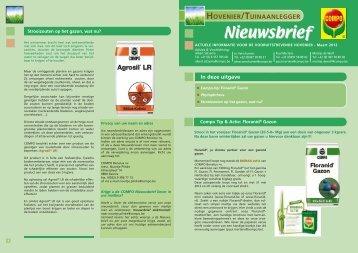 Nieuwsbrief maart 2012 - COMPO EXPERT