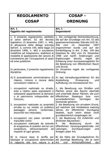 regolamento per la concessione di contributi a favore delle attivitá ...