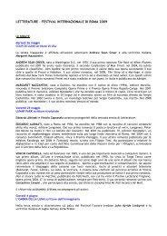 letterature 2009 programma - Comune di Roma