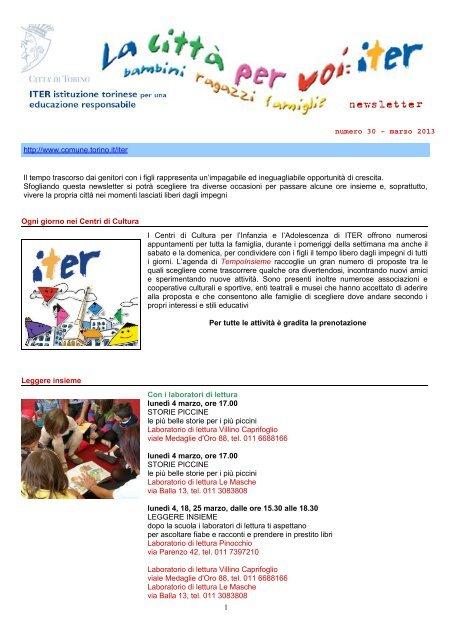 Newsletter n. 30 (.pdf) - Città di Torino