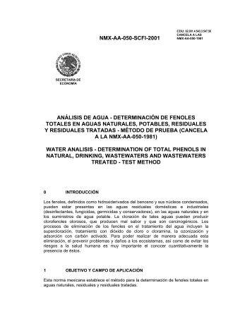 NMX-AA-050-SCFI-2001 ANÁLISIS DE AGUA ... - Conagua