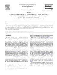 Clinical manifestations of mannan-binding lectin deficiency