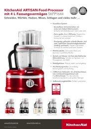 KitchenAid - Artisan Food Processor, 4,0 L - Connox