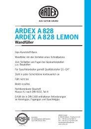 ARDEX A 828 ARDEX A 828 LEMON Wandfüller - Robin
